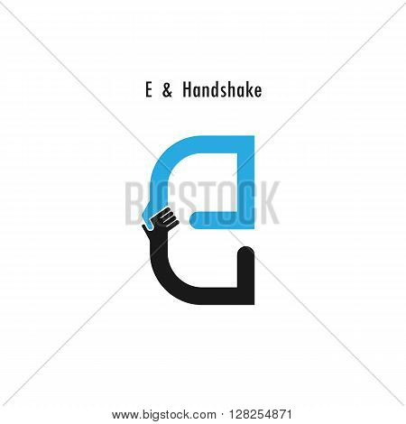 Creative E- letter icon abstract logo design vector template.Business offerpartnership icon.Corporate business and industrial logotype symbol.Vector illustration