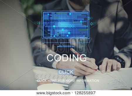 Coding Technology Computing Data Digital Concept