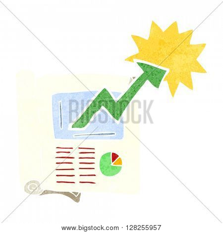 freehand retro cartoon business document