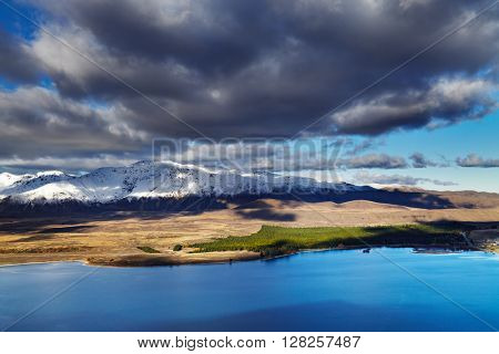 Lake Tekapo, view from Mount John, Mackenzie Country, New Zealand
