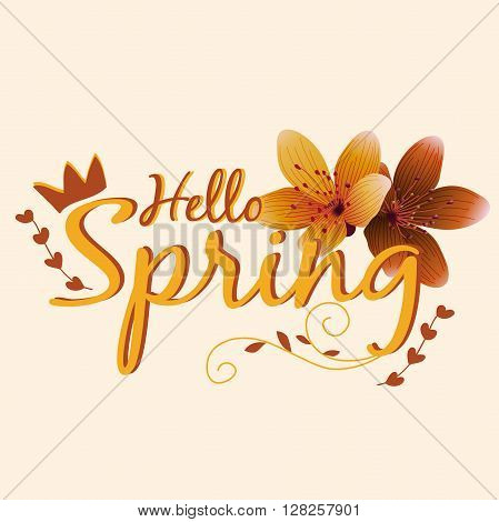 Beautiful Spring Design for apparel. Easy to manipulate, re-size or colorize.