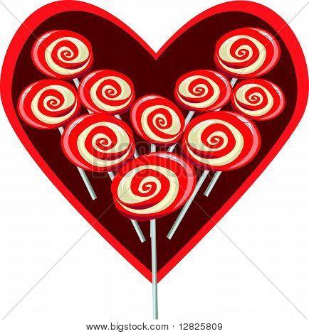 Image of Sweet heart shape lollipop