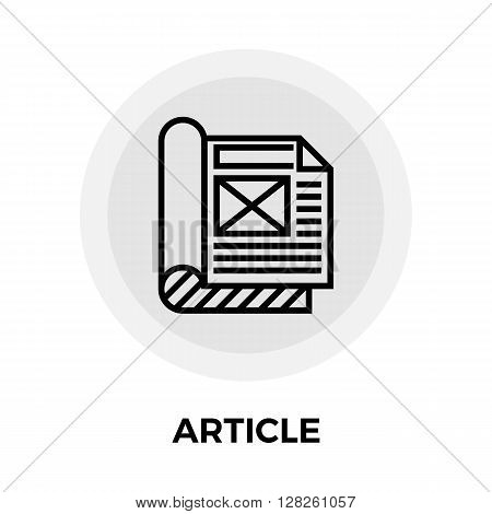 Article Icon Vector. Article Icon Flat. Article Icon Image.