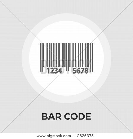 Bar code icon vector. Flat icon isolated on the white background. Editable EPS file. Vector illustration.