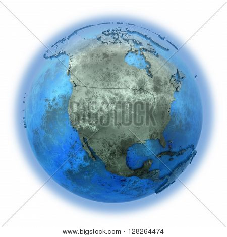 North America On Marble Planet Earth