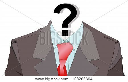 Ironic illustration it is depicting a person who has lost his identity