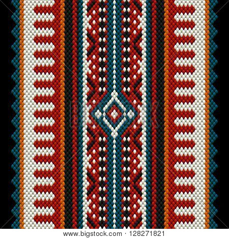 A Beautiful Middle Eastern Sadu Traditional Carpet Fabric Texture