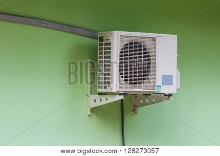 Compressor of air condition are outside building office