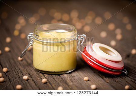 Natural Diy Homemade Wasabi Hummus