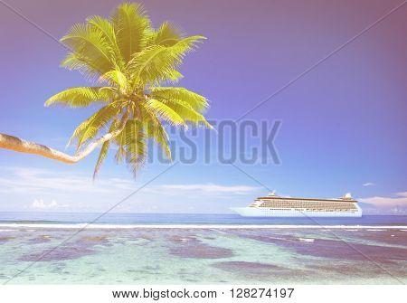 Summer Beach Paradise Travel Destination Concept