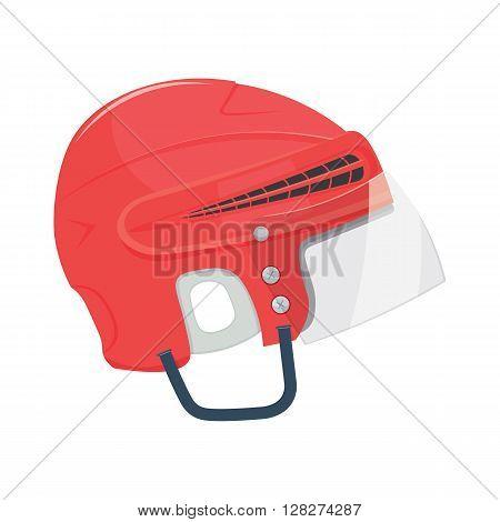 Hockey Helmet vector illustration isolated on white background