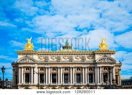 The Opera Garnier in paris France.it is regarded as one of the architectural masterpieces of its time.