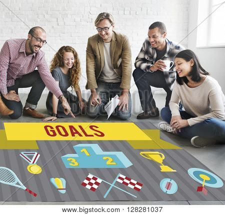 Business Goals Strategy Concept