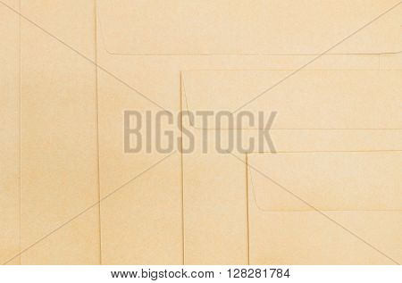 Closeup surface group of brown envelope background