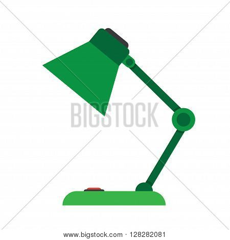 Reading-lamp. Single flat icon on white background. Vector illustration.