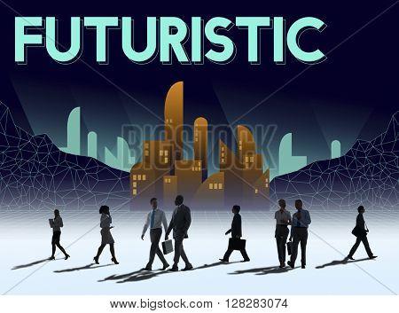 Futuristic Future Plan Urban Structure Concept