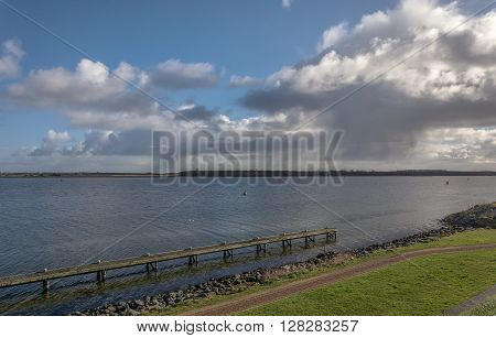 View of the Bay of Zeeland, the Netherlands province.