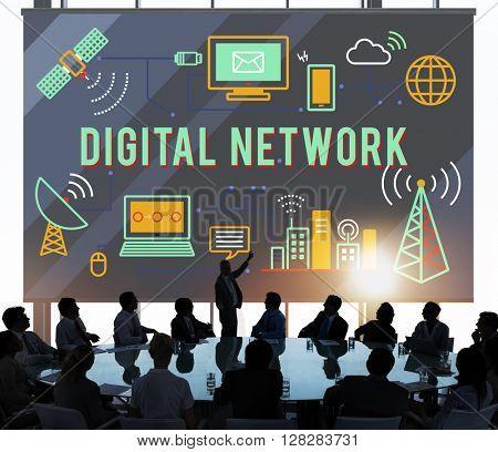 Digital Network Technology Online Connection Concept