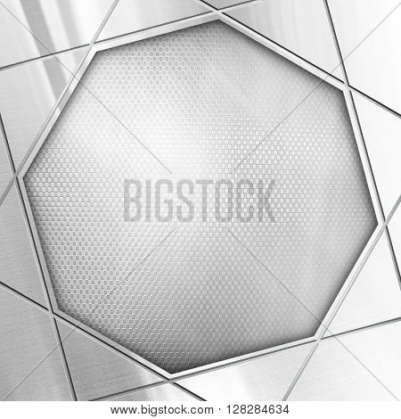 metal template with octagon design