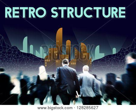 Skyscraper Building Retro Structure Urban Concept