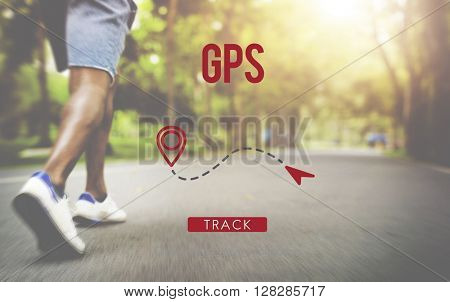 Route GPS Location Direction Position Transport Concept