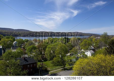 The beautiful Hudson Valley in New York during the Spring