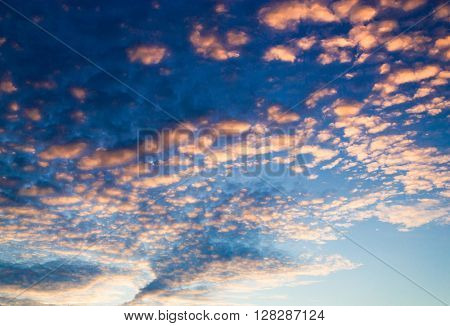Sunset in the Sky Evening Cloudscape