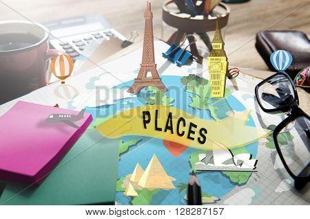 Places Attraction Destination Historical Tourism Concept