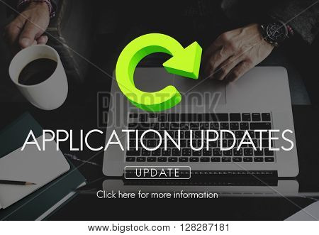 Application Updates Software Download Concept