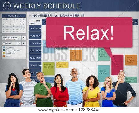 Relax Weekly Schedule To Do List Concept