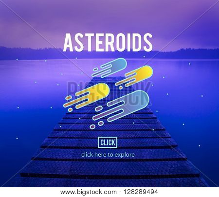 Asteroids Astronomy Exploration Nebular Concept
