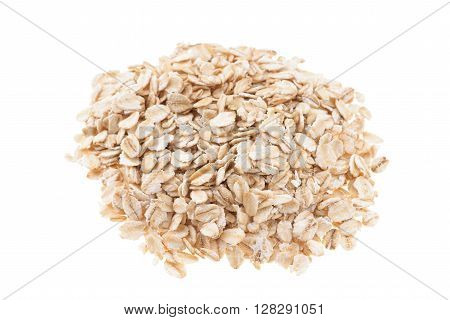 Oat flakes isolated on a white background