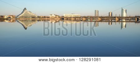 Cardiogram of Riga left bank side - New buildings