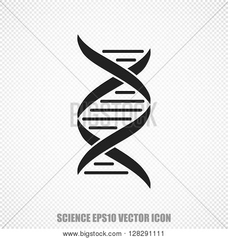 The universal vector icon on the Science theme: Black DNA. Modern flat design. For mobile and web design. EPS 10.