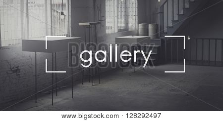Gallery Museum Exhibition Art Space Concept