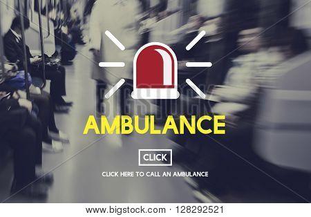 Ambulance Hospital Health Alertness Concept