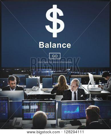 Balance Business People Work Bank Concept