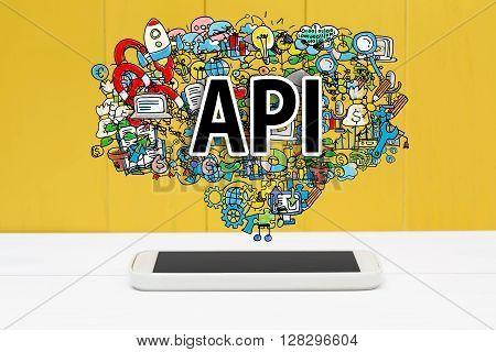 Api Concept With Smartphone