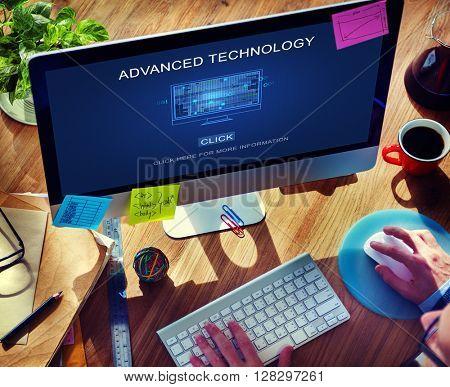 Computer Coding Code Advanced Technology Concept