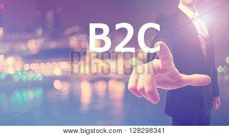 B2C Concept With Businessman