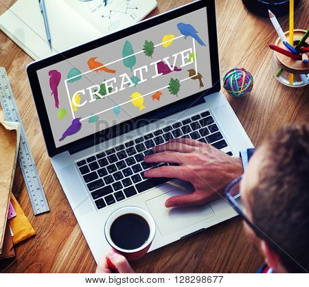 Create Creative Creativity Ideas Design Concept