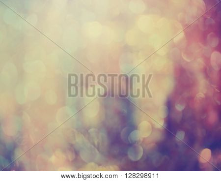 Abstract Pink And Violet Background With Defocused Light