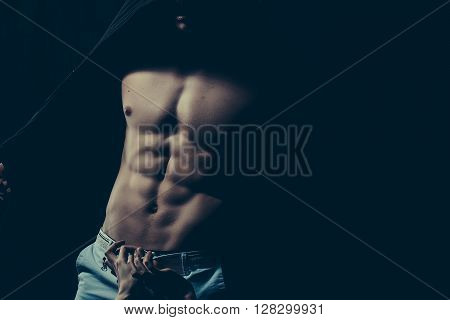 Male Torso With Female Hands