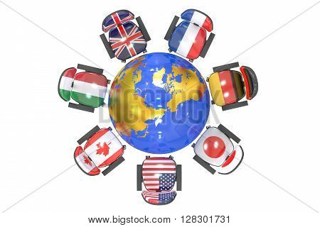 G7 Summit Group of 7 concept 3D rendering
