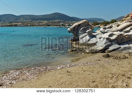 Blue Waters of kolymbithres beach, Paros island, Cyclades, Greece