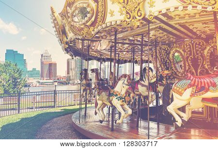 Outdoor Vintage Style Carousel