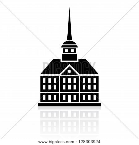Palace vector icon isolated on white background