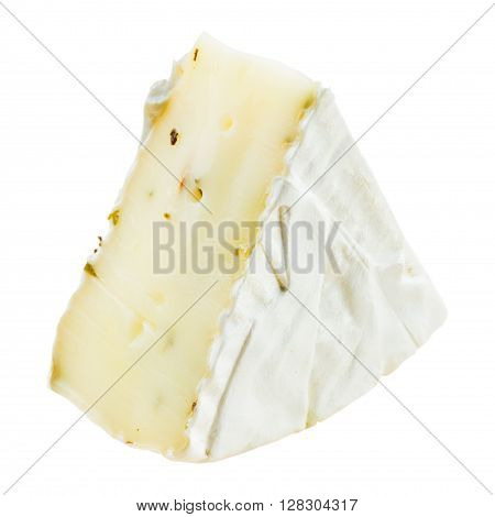 Brie gourmet cheese isolated on white background
