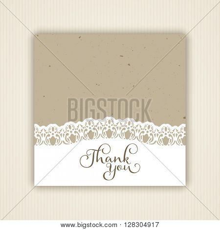 Vintage style thank you card design