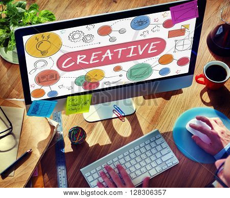 Creative Innovation Ideas Process Drawing Concept
